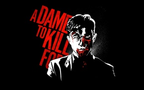Picture blood, Johnny, Joseph Gordon-Levitt, A Dame to Kill For, Sin City 2