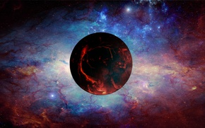 Picture the sky, nebula, space, the universe, planet