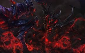 Picture darkness, blood, the demon, art, skull