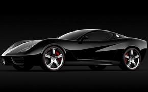 Picture Corvette, Chevrolet, black, Design, Z03, UgurSahin