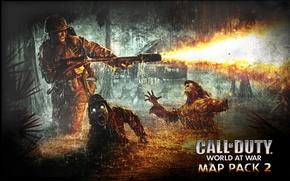 Wallpaper World at War, Nazi Zombies, Call of Duty