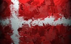 Picture Denmark, flag, Scandinavia