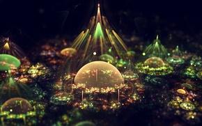 Picture bubbles, graphics, bursts, fractal, colors, artistic composition, the artist Silvia Cordedda