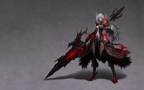 Picture sword, beautiful, Anime, art, Senketsu, arts