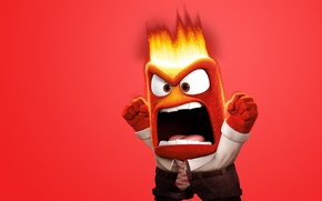 Picture fire, flame, eyes, chibi, tongue, adventure, tie, mouth, spark, Anger, 2015, social clothing, Pixar Animation …