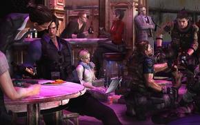 Picture biohazard, party, Capcom, Resident Evil 6, Helena Harper, Chris Redfield, Sherry Birkin, Ada Wong, Jake …