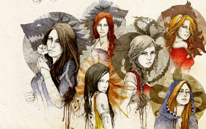 Picture girls, figure, characters, Game Of Thrones, Game of Thrones, Daenerys Targaryen, Sansa Stark, Ygritte