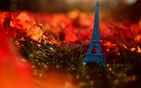 Picture autumn, grass, leaves, nature, France, Paris, Eiffel tower, Paris, grass, nature, France, autumn, leaves, Eiffel …