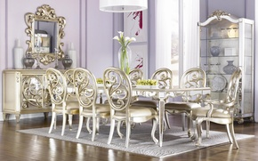 Picture design, style, interior, lilac, dining room