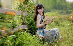 Picture girl, nature, face, smile, owner