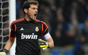 Wallpaper Football, goalkeeper, real, Football, Spain, Real Madrid, Player, Iker Casillas, Madrid, Hala Madrid, Casillas, Captain, ...