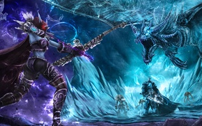 Picture warcraft, arthas, Sylvanas, Heroes of the Storm, moba