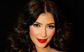 Picture look, model, actress, lipstick, brunette, lips, Kim Kardashian