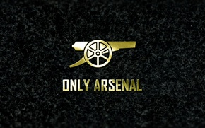 Picture arsenal, logo, minimalism, football, granit