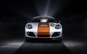 Picture Porsche, Cayman, white, front