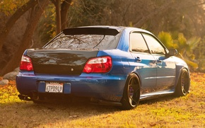 Picture tuning, blue, blue, subaru impreza, Subaru, wrx sti