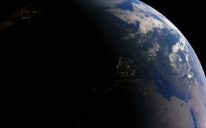 Picture lights, planet, Earth, Spain, The Mediterranean sea