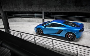 Picture McLaren, Blue, Ass, McLaren, Parking, Blue, Supercar, MP4-12C, Parking, Supercar, Rear