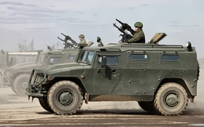Wallpaper The Russian Army, jeep, army, military, Tiger, machine