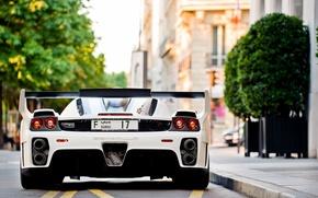 Picture white, Ferrari, white, Ferrari, Gemballa, Enzo, tuning, back