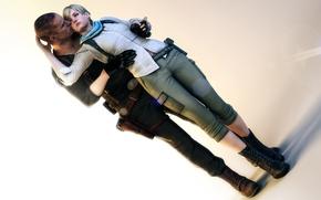 Picture fanart, Resident Evil 6, Sherry Birkin, Jake Muller, Biohazard 6