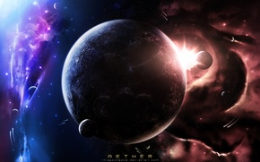 Picture space, sun, planet, thiagochackal