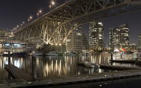 Wallpaper bridge, river, the city