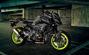 Picture black, Motorcycle, Yamaha FZ-10, 2017.