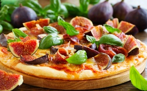 Picture fruit, pizza, figs