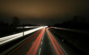 Wallpaper Lights, Night, Autobahn