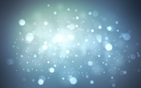 Wallpaper circles, light, cold, blue, winter