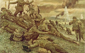 Wallpaper weapons, art, France, soldiers, the landing of allied troops, WW2, 6 June 1944, Normandy, equipment, ...