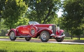 Picture Red, V12, classic, Suite, american, luxury, prestige, 1934, Auburn