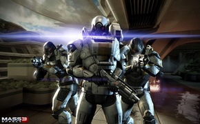 Picture weapons, the game, war, game, costumes, mass effect 3, Cerberus