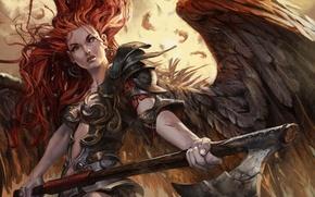 Picture girl, wings, Angel, Angel, Magic: The Gathering, Jesper Ejsing
