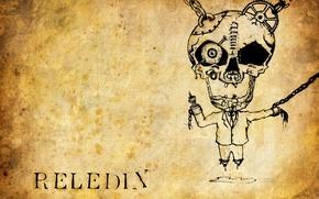 Picture eyes, music, skull, FAK, drawings, metal, fuck, reledix, old paper