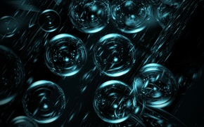 Picture balls, bubbles, the reflection, rendering
