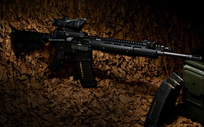 Wallpaper weapons, rifle, carabiner, Ruger, semi-automatic, SR-556E