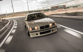 Picture bmw, tuning, speed, germany, low, stance, e36