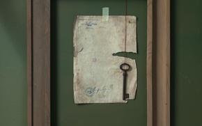 Wallpaper key, sheet, frame