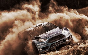 Picture Ford, Dust, WRC, Rally, Fiesta, RS