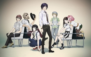 Picture anime, art, A Homeless God, Noragami, Yato, Yukine, Chieri