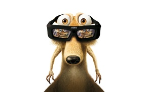 Picture protein, glasses, ice age