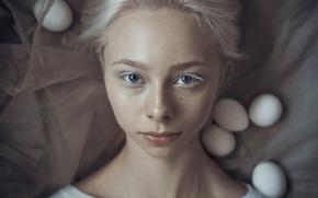 Picture fantasy, portrait, makeup, art, Darya Chacheva, Eggy