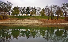 Picture autumn, reflection, trees, pond, Nature, trees, nature, the ranks, autumn, pond, fall