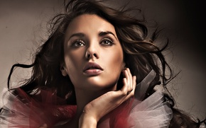 Picture girl, model, brunette, mysterious look