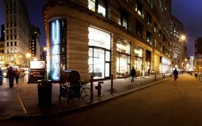 Picture night, new York, night, new york, usa, nyc, Madison Square Park Area, Panoramic