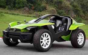 Picture the concept, green, the front, Fiat, FCC 2, Fiat