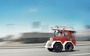 Wallpaper Truck, micro, fire