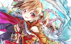 Picture anime, art, sword art online, Silica, Pina